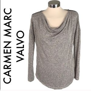 👑 CARMEN MARC VALVO LIGHTWEIGHT SWEATER
